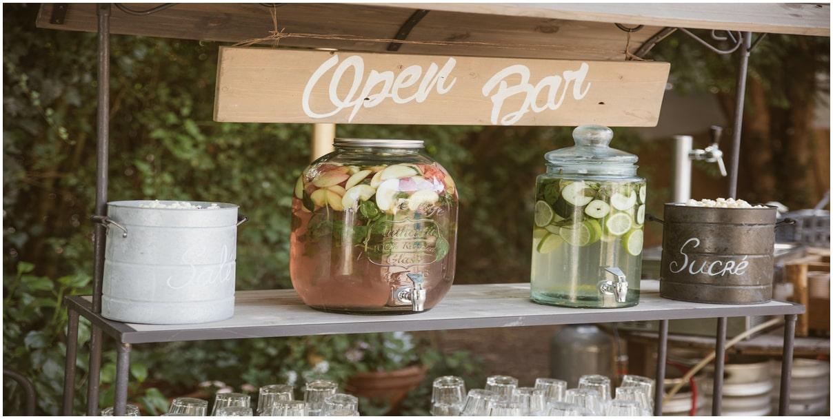 open bars tendances mariage